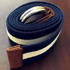 Polo Ralph Lauren Blue-and-White Striped Belt